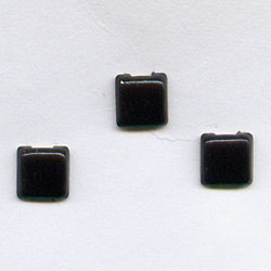 "Black 1/8"" Mini Squares -- Paper Fasteners -- 100 Pack"