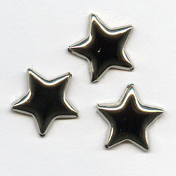 "Silver -- 1/2"" Medium Star -- Paper Fasteners -- 50 Pack"
