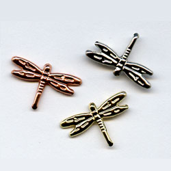 """Assorted Metallic -- 11/16"""" Dragonfly -- Paper Fasteners -- 50 Pack"""