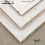 White Floral Guest Book