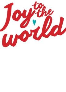 Joy to the World Flat Card invitation