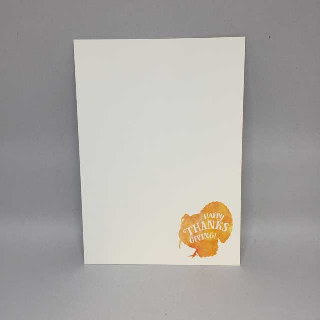 Hy Thanksgiving Turkey Holiday Flat Card Invitation 5 X 7 10 Pack