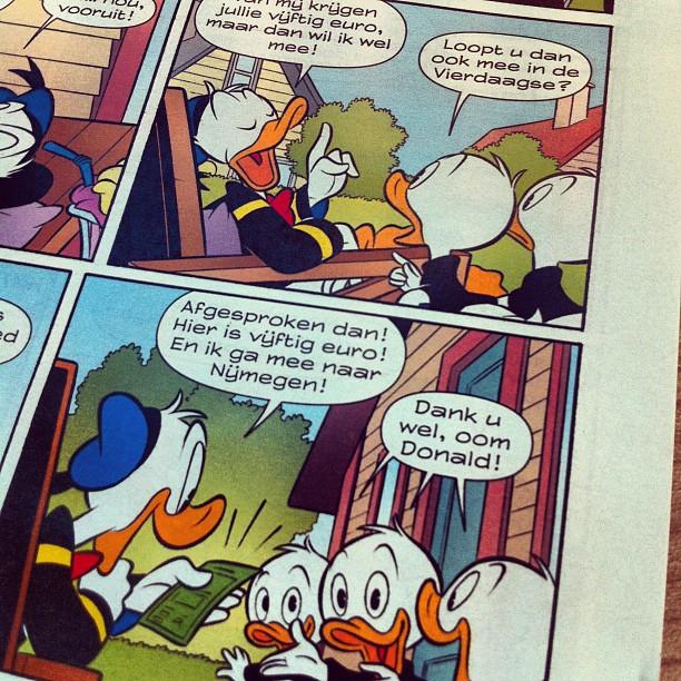 Deze week is Donald Duck in Gelderland!