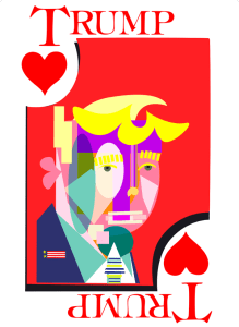 Trump playing card of hearts