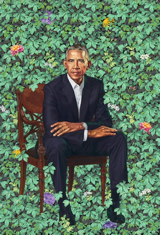 portrait of President Obama by Kehinde Wiley