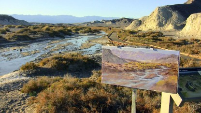 My easel along Salt Creek