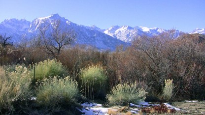 Mt Whitney and the Alabama Hills