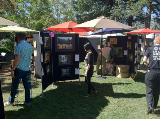 Another shot of the exhibits at the Los Gatos Art Festival