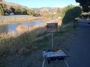 Along Alameda Creek at the entrance to Niles Canyon