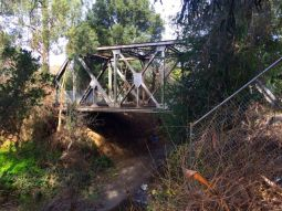 The trestle from the opposite side I painted from.