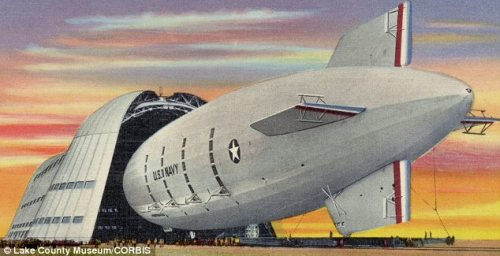 USS Macon and Hanger 1