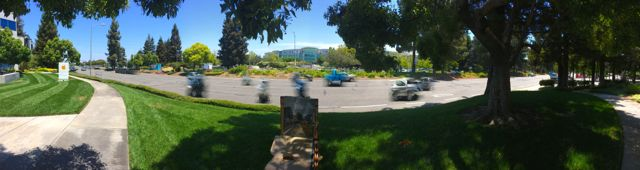 A Pano from across DeAnza Blvd of Apple Headquarters.