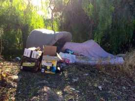 You see all kinds of trash even on the backroads of the SF bay area.