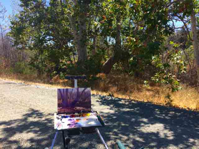 My easel along Guadalupe Creek Trail