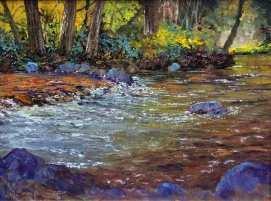 Los Gatos Creek, 9x12