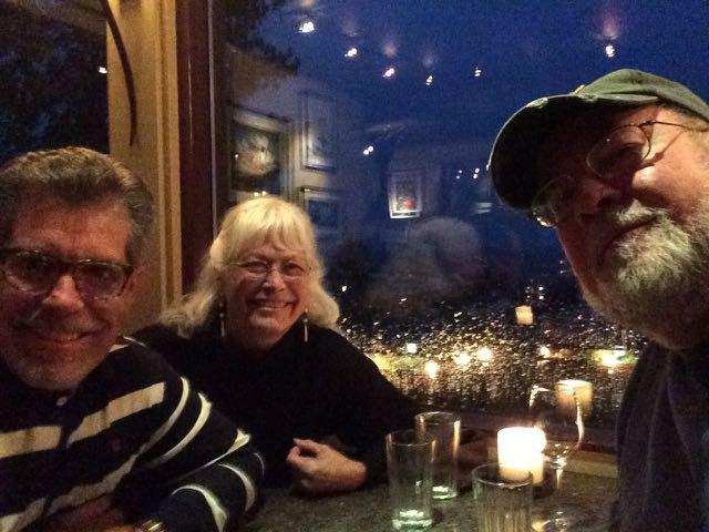 Dinner with Clarke and Elaine