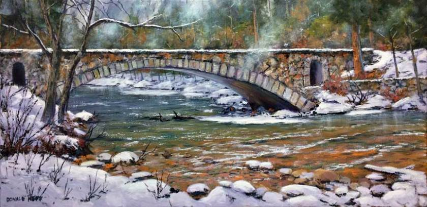 Early Snow, Yosemite, 15x30, oil on canvas