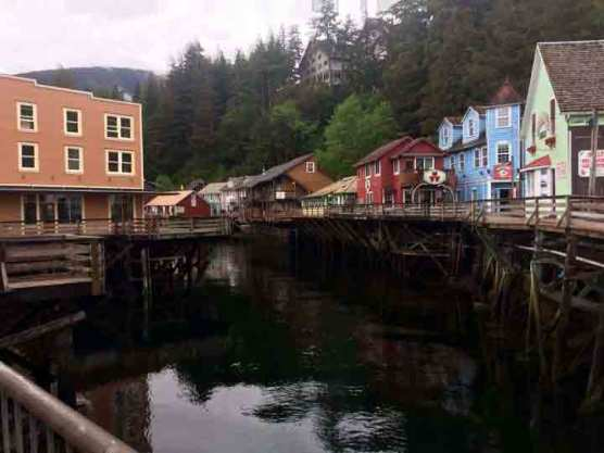 Ketchikan creek when I started painting.