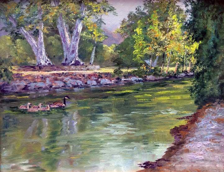 Vasona, 11x14, oil on panel