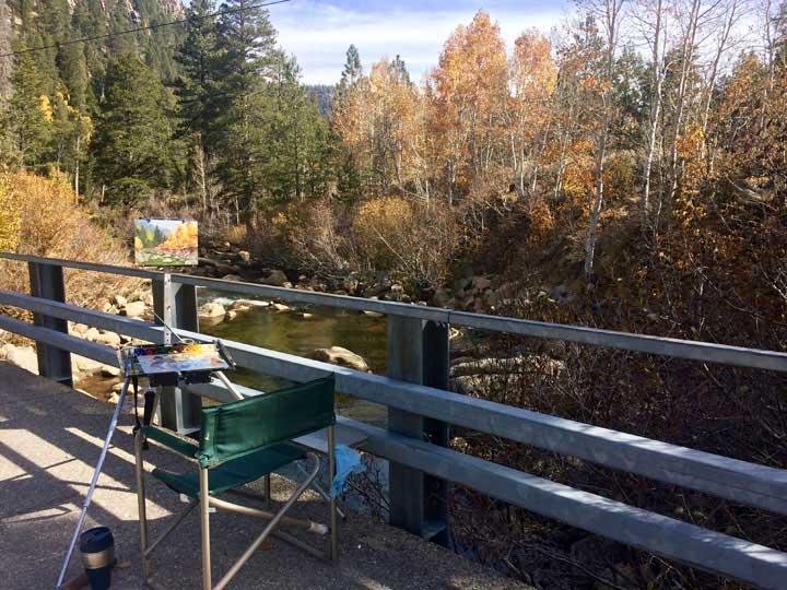 Painting on the bridge