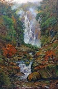 """""""Kanba-no-taki"""" 30x20, oil on canvas"""