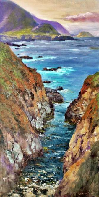 Point Sur, 24x12,oil on canvas