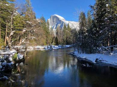 A classic view of Half Dome