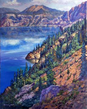 Crater Lake * Oil on Canvas * 28x22