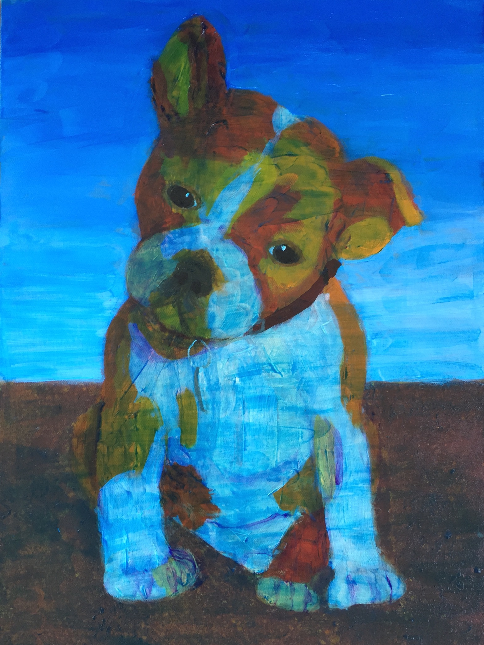 Bulldog Puppy - SOLD - Prints Available