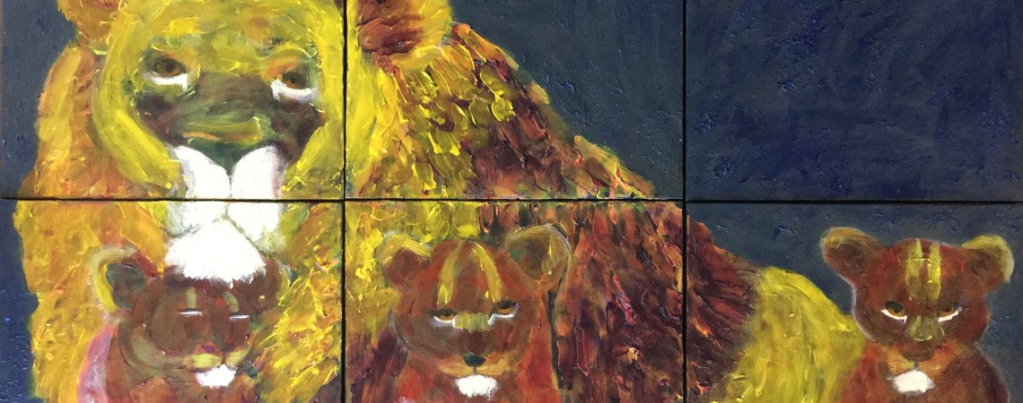 Lion Family - - Original for Sale - Prints Available