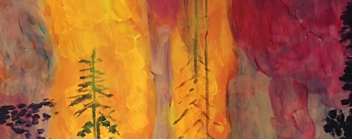 Forest Fire - Original for Sale - Prints available