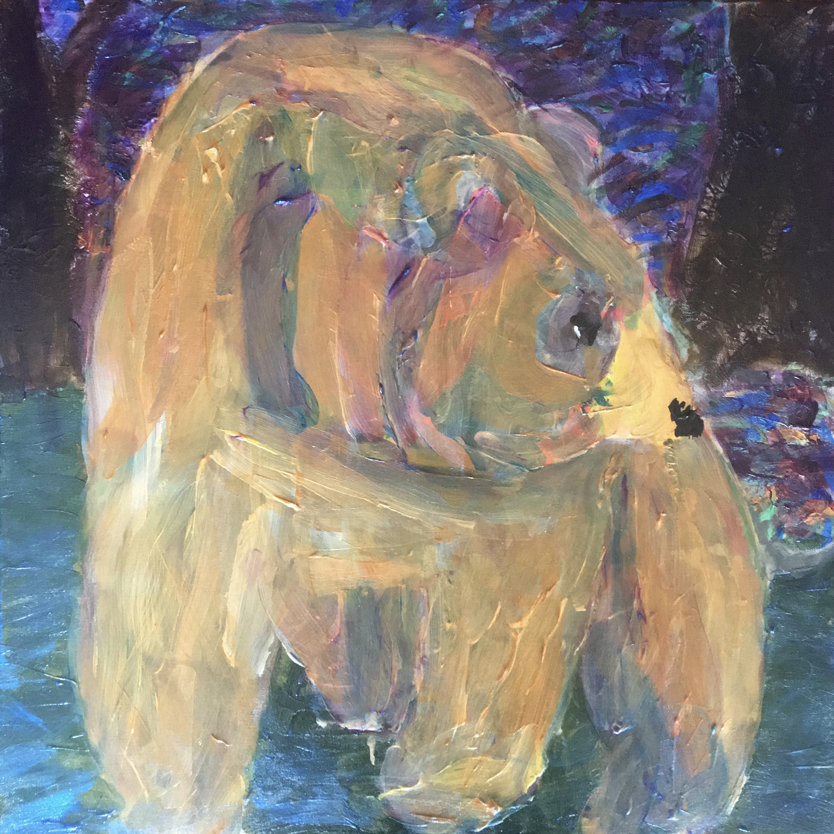 Bear Coming Out of the Woods - Original for Sale