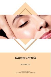 Donata D'Oria Kosmetik Preisliste Gesichtsbehandlungen