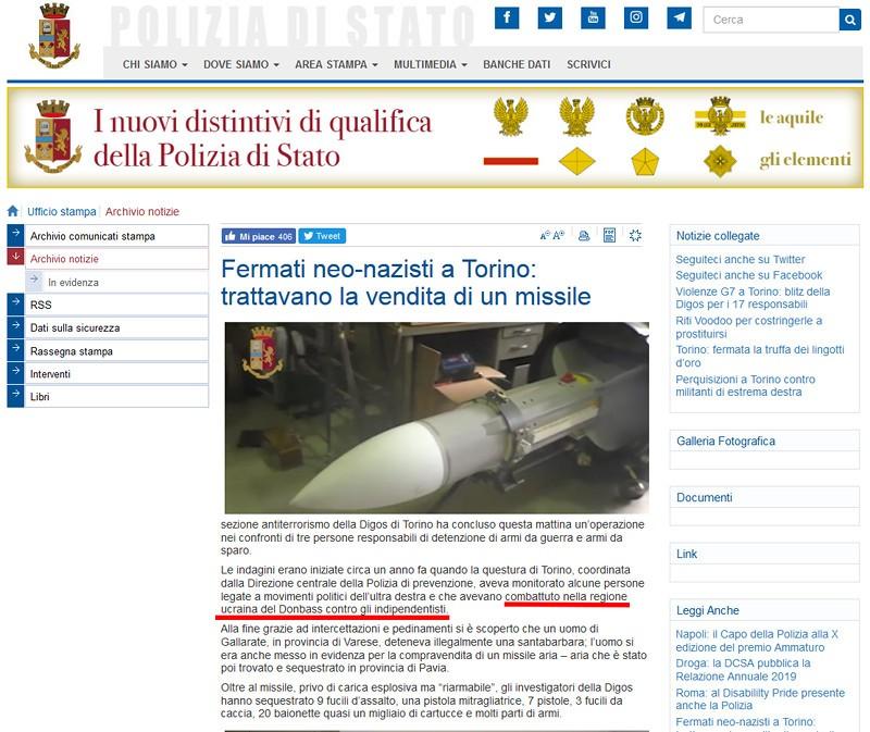 Article d'origine sur le site de la police italienne