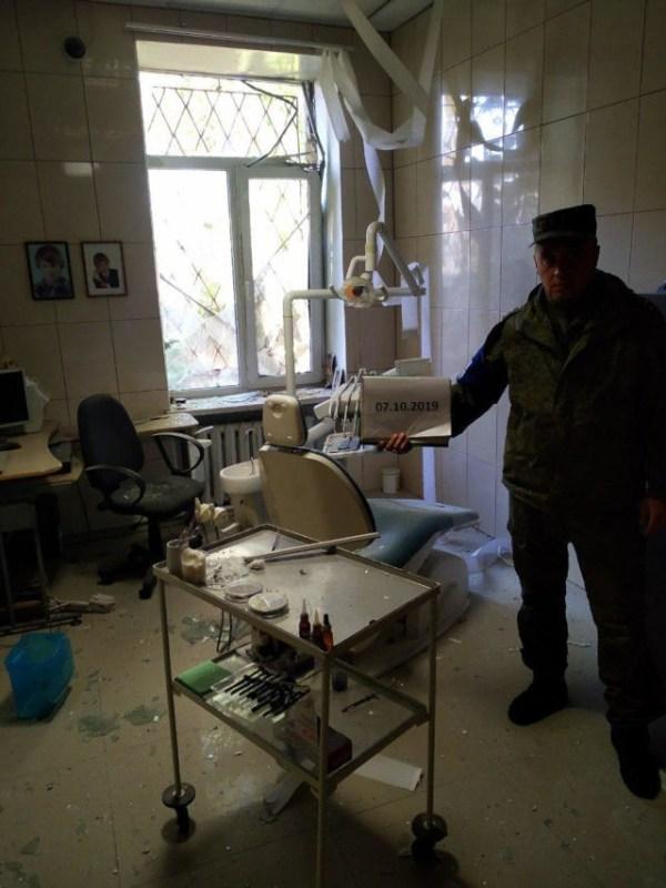 Photo d'un cabinet de dentiste touché à Staromikhaïlovka