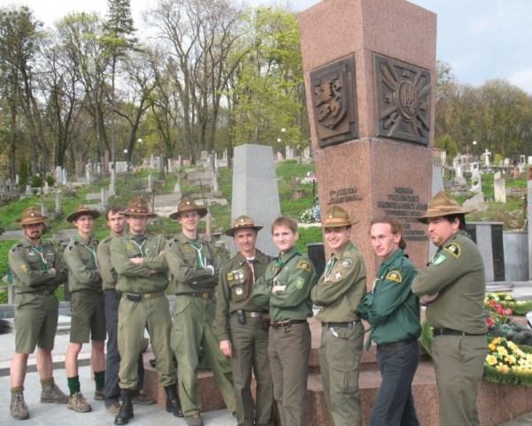 Monument commémorant la division SS Galicie à Lvov