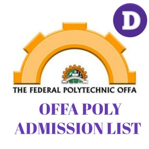 Offa poly admission list
