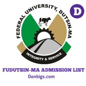 FUDMA Admission List