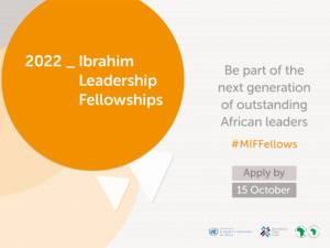 Mo Ibrahim Foundation Leadership Fellowship afdb