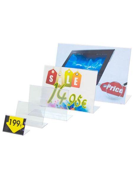 Porta Gráfica en PVC tipo L horizontal
