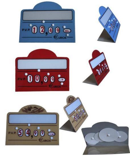 Cartel Panadería Porta Precio con Ruedas Numéricas imagen 2