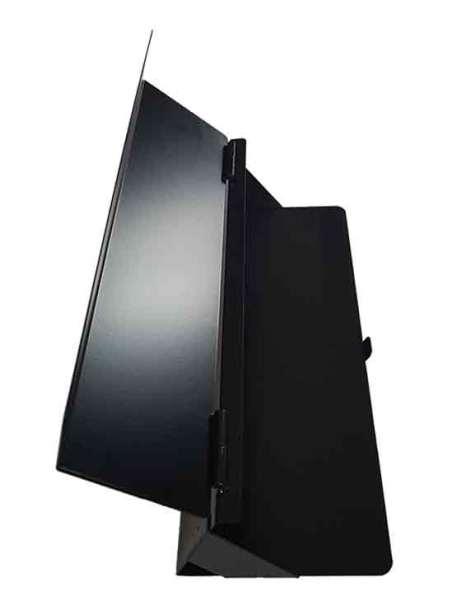 Dispensador de bolsas negro abierto
