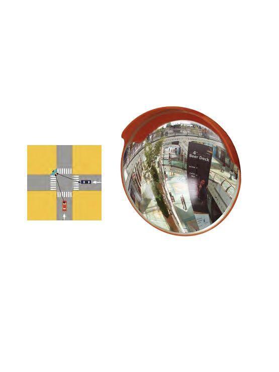 Espejo de Seguridad Convexo de Exterior