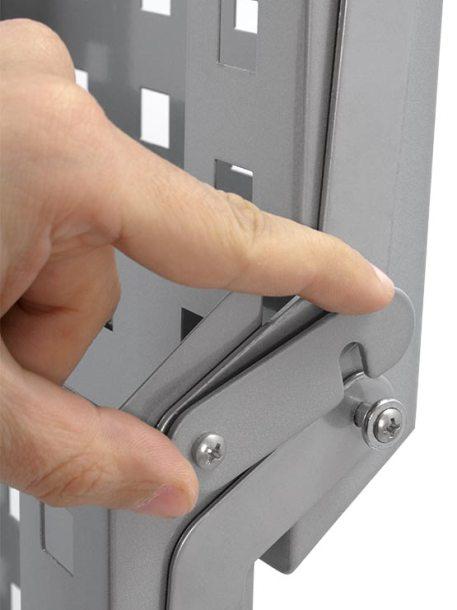 PortaFolletos Plegable Portátil detalle fijación