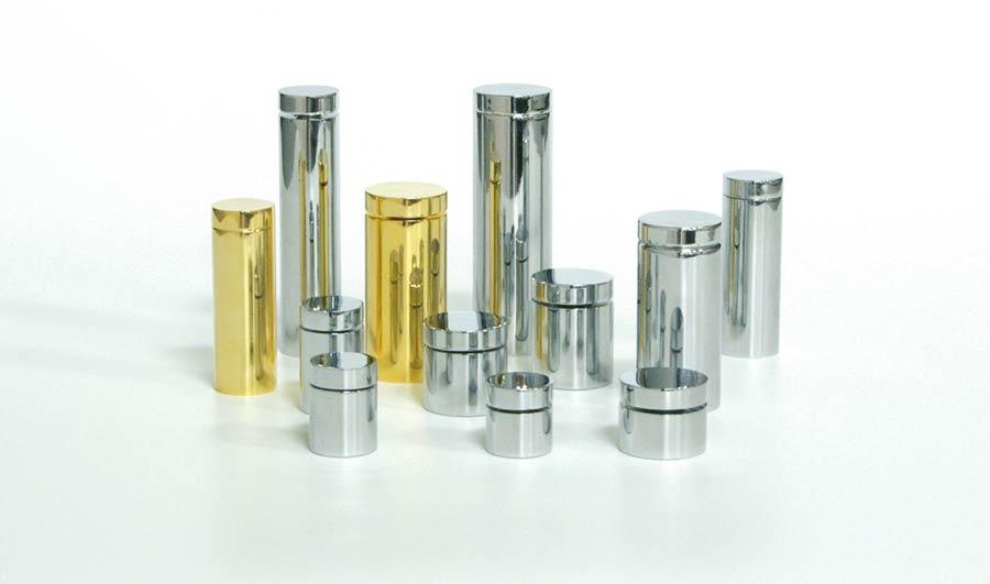 Soportes metálicos para letreros de cristal modelos
