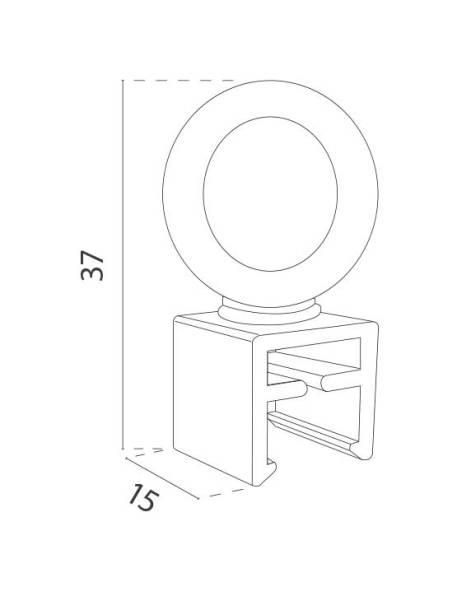 Anilla giratoria para marco medidas