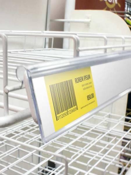 Perfil Etiquetero Porta Precio Wire (25 unidades)