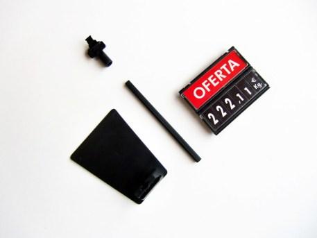 portaprecio cassette mini con base imagen 2