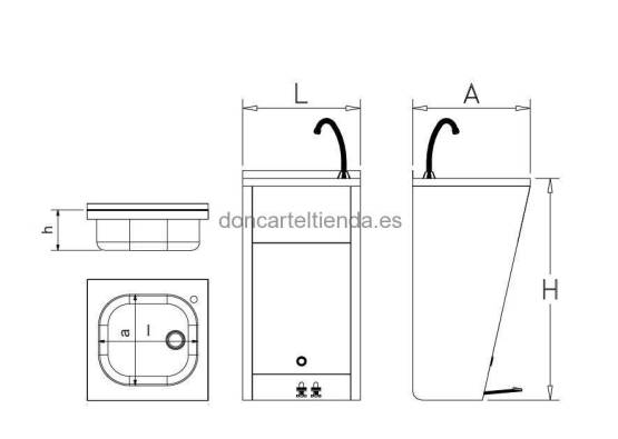 Lavamanos Registrable con Doble Pedal imagen 2