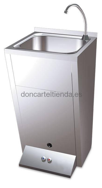 Lavamanos registrable con pedestal doble pulsador imagen 3